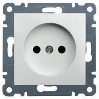 Розетка с заземлением и защитой контактов Lumina-2,  белый