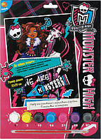 Раскраска по номерам,7цветов, 22*29см, Monster High