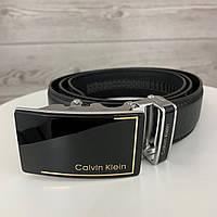 Мужской ремень Calvin Klein автомат | Брендовый черный ремень на пояс Кельвин Кляйн с пряжкой