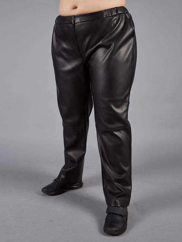 Шкіряні штани великих розмірів для повних