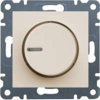 Светорегулятор поворотный 60-600Вт Lumina-2, крем