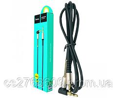 """AUX кабель Hoco UPA02 """"Spring Audio"""" 1m чорний"""