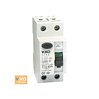 Устройство защитного отключения 2P (двухполюсное) 30мА 230V VIKO - 25А