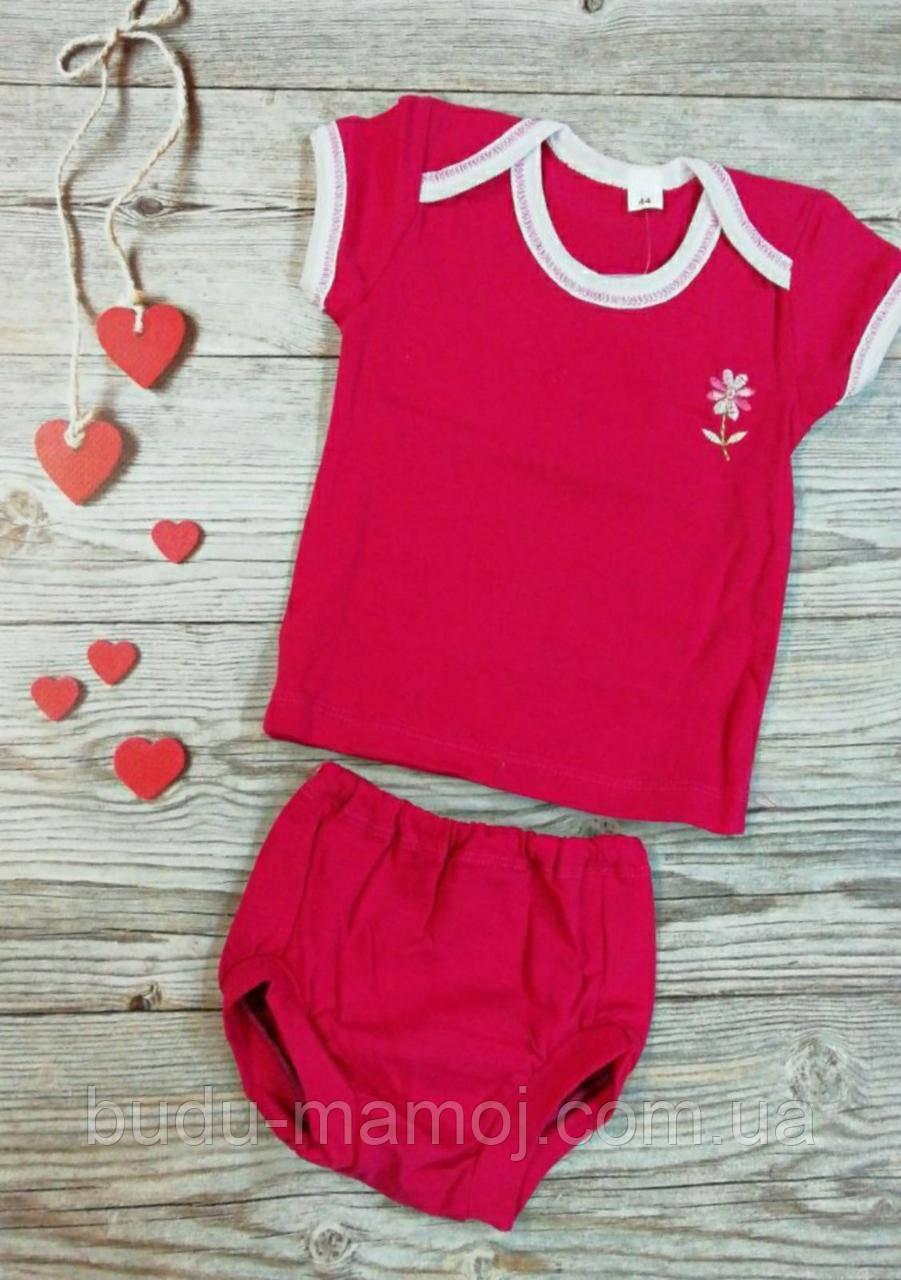 Детский комплект футболка и трусики под памперс 68 размер