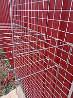 Одинарный серый крючок 150мм металлический на тоговую сетку решётку, фото 1