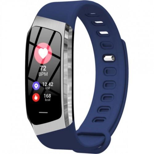 Фітнес браслет з вимірюванням пульсу і тиску Smart band E18 silver-black