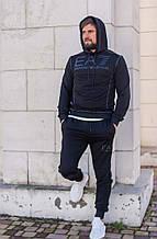 Спортивный костюм мужской черный брендовый двухнитка весна 2021  с м л хл ххл