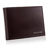 Мужской кошелек из натуральной кожи. Мужской клатч Betlewski с защитой RFID BPM-VTC-61 коричневый