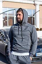 Спортивный костюм мужской серый брендовый двухнитка весна 2021  с м л хл ххл