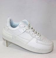 Белые кожаные женские кроссовки демисезонные на шнуровке