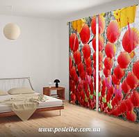 Фото шторы в гостинную Китайские фонарики