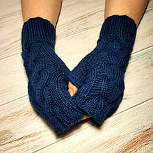 Митенки женские шерсть ручной работы, Митенки вязаные Hand Made