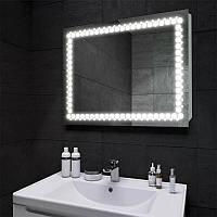 Зеркало с LED подсветкой в ванную на 5 Вт 900х700   дзеркало на стіну з підсвіткою