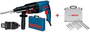 Перфоратор Bosch GBH 2-26 DFR Professional + 8 сверл + 2 пики (0615990L2T)