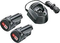 Аккумуляторы Li-ion Bosch 2 PBA (2 шт., 12 В, 1.5 А/ч) + зарядное устройство GAL 1210 CV (1600A01L3E)