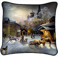 Фотоподушка Зимняя церковь