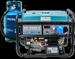 Генератор газобензиновый Konner&Sohnen KS 7000E G (5.5 кВт)