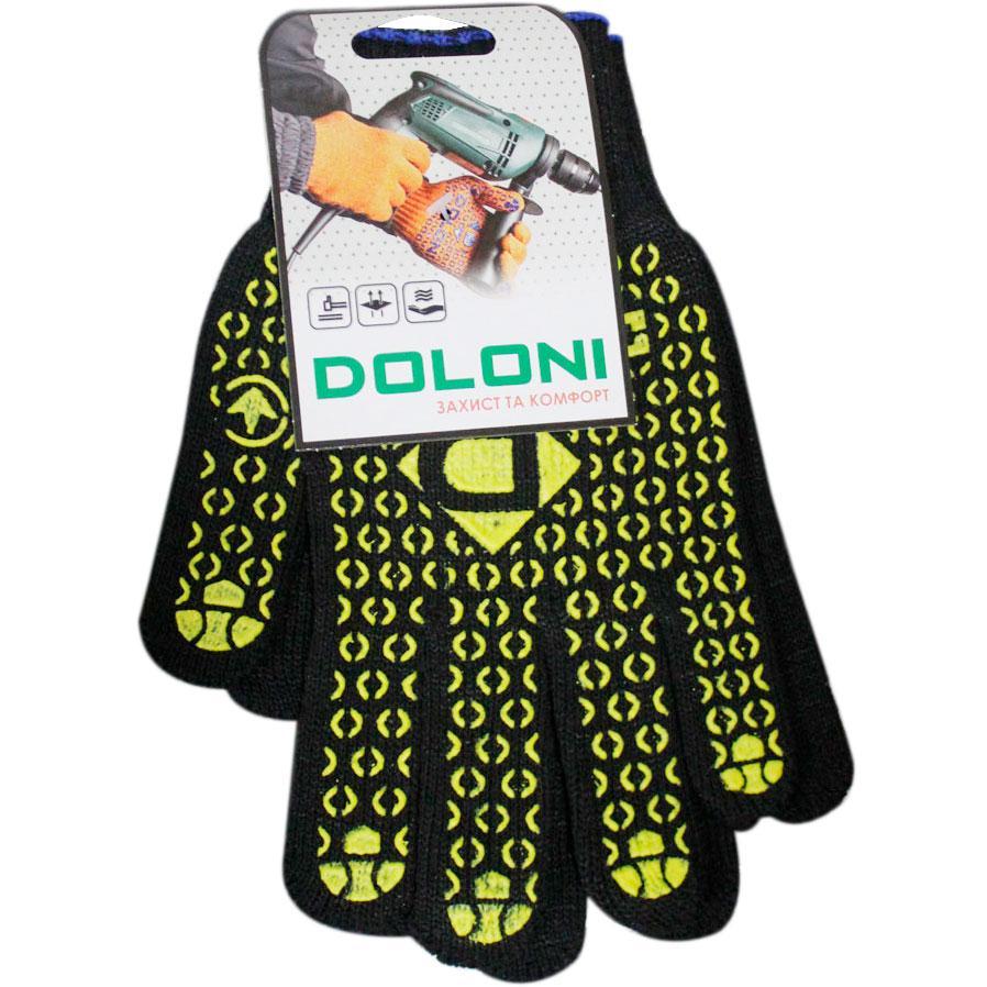 Рукавички трикотажні з ПВХ Doloni XL (300 пар)
