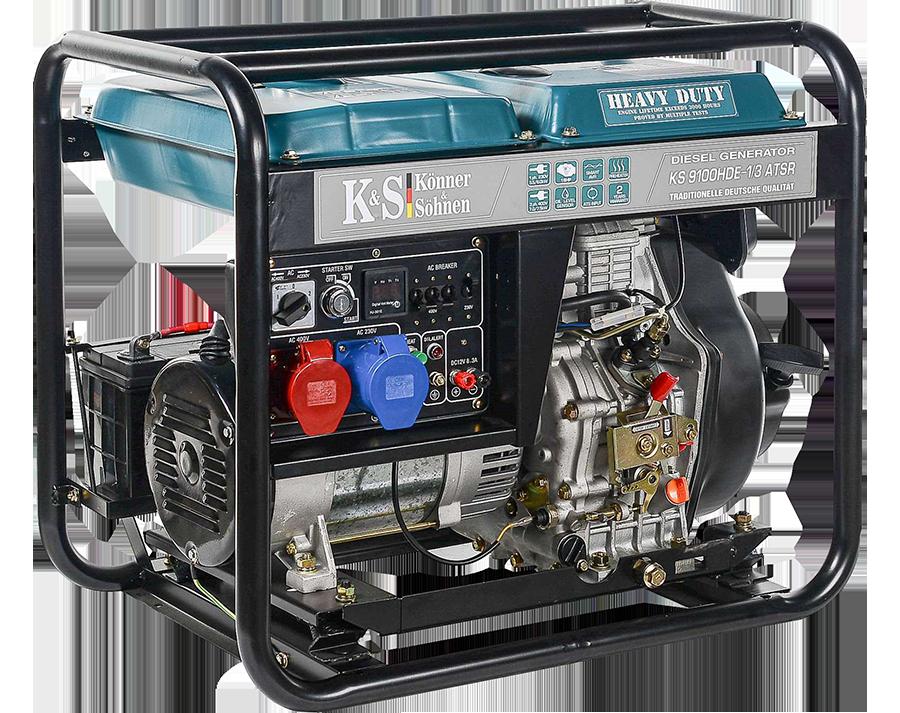 Генератор дизельный Konner&Sohnen Heavy Duty KS 9100HDE-1/3 ATSR (Euro V) (7.5 кВт, 3ф~)