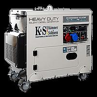 Генератор дизельний Konner&Sohnen Heavy Duty KS 9202HDES-1/3 ATSR (Euro II) (7.5 кВт, 3ф~)