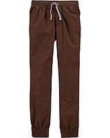 Коричневі поплінові штанці для хлопчика Картерс