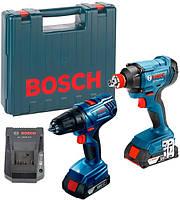 Набір інструментів гайковерт Bosch GDX 180-LI + дриль-шуруповерт GSR 180-LI Professional (06019G5222)
