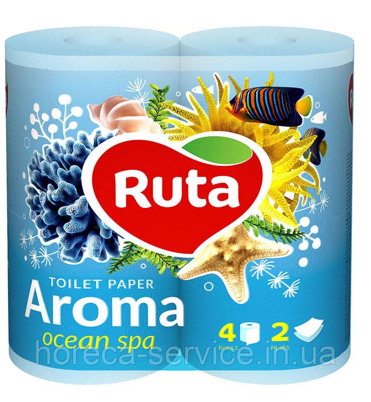 Туалетная бумага RUTA Aroma Ocean ароматизированная двухслойная 4 шт.