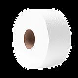 Туалетная бумага PAPERO на гильзе джамбо двухслойная 90 м., фото 2