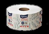 Туалетная бумага PAPERO на гильзе джамбо двухслойная 90 м., фото 4