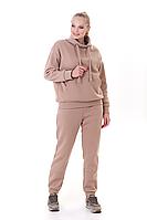 Стильный молодежный спортивный костюм женский двойка размеры 48-50,52-54