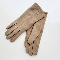 Жіночі рукавички фланель німецька шерсть з сенсорним пальцем на хутрі