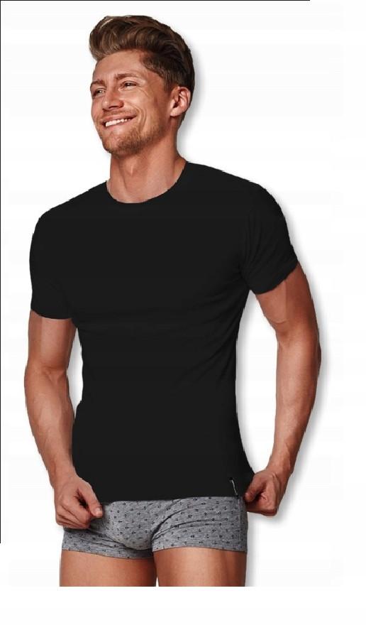 Мужская классическая футболка из хлопка Henderson 1495, M, чорний