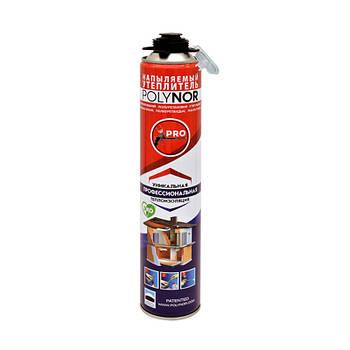 Напилюваний поліуретановий утеплювач Polynor з насадкою для стін