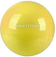 Мяч для фитнеса Фитбол Profit 0383, желтый