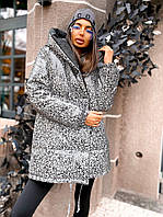 Женская стильная двусторонняя женская светоотражающая куртка