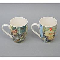 """Чашка керамическая для напитков """"Петух"""" CB080, размер 10х8 см, объем 380 мл, 4 вида, в коробке, чашка для чая,"""