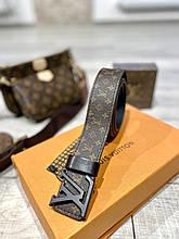 ТОП ПРОДАЖ! Кожаный ремень Louis Vuitton