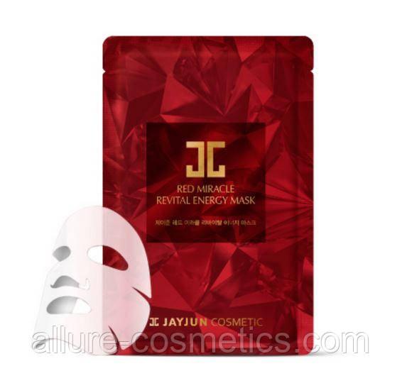 Восстанавливающая энергетическая тканевая маска для лица JayJun red miracle revital energy mask