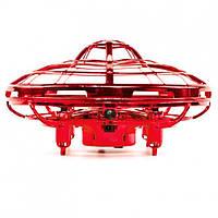 Квадрокоптер мини (Летающая тарелка) UFO с Led подсветкой анти столкновение НЛО, фото 1