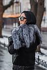 Куртка Замшевая Утепленная С Чернобуркой 012ГК, фото 6
