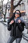 Куртка Замшевая Утепленная С Чернобуркой 012ГК, фото 8