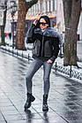 Куртка Замшевая Утепленная С Чернобуркой 012ГК, фото 10