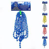 Підвіска на ялинку DM141, розмір 2.7 м*9мм, кольори асорті, пластик, ялинкова підвіска, підвіска на ялинку, ялинкова