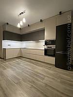 Кухня на замовлення в сучасному стилі. Кухня під стелю. Кухня двухярусна. Кухня 2021 року модель, фото 1