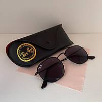 Солнцезащитные очки унисекс Ray Ban Marshal черный комплект, фото 1