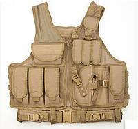 Жилет тактический военный RVL Песок, фото 1