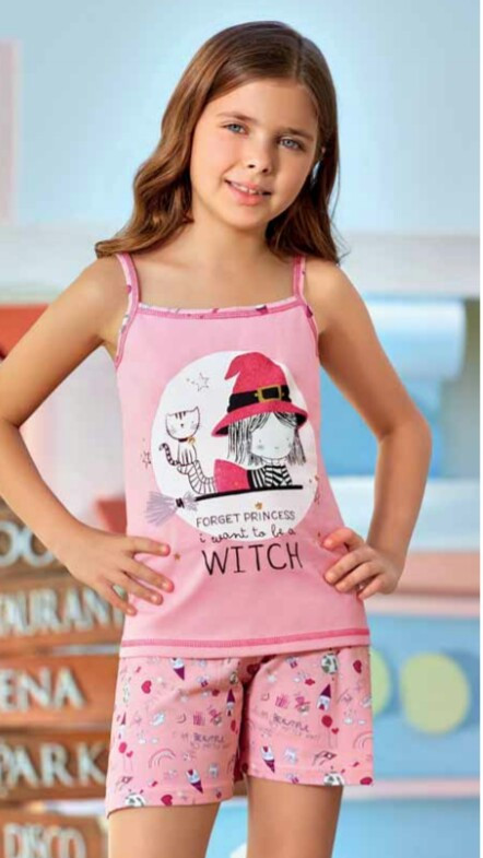 Комплект дитячої домашнього одягу для дівчинки рожевий