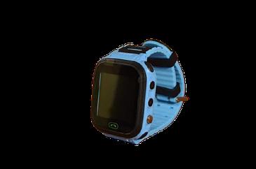Детские умные часы Smart Watch F4 (смартчасы с GPS + родительский контроль + фонарь)  (Голубые)