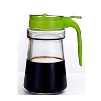 Диспенсер для масла/соуса Stenson MS-2872, стекло, объем 300 мл, разные цвета, емкость для масла, бутылка под