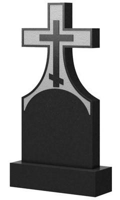 Пам'ятник у вигляді хреста з граніту (100 см) До-02